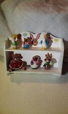 Shelf filled Artisan Toy Animal Dolls Teddy Bear Geese Mice & Bunny Rabbit