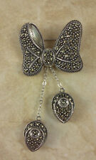 Judith Jack Sterling Minnie Mouse Bow with Shoes Dangles Brooch/Pin