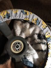 Minions On Blue Steering Wheel Cover