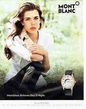 Publicité Advertising 127  2015   montre Boheme  Mont Blanc  Charlotte Casiraghi