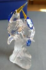 Swarovski Crystal malachite kingfisher Birds On Perch