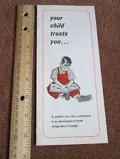 Vintage Child Warning Brochure Public Safety Booklet Abandoned Freezers Fridges