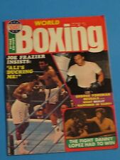 SEPT 1975 WORLD BOXING JOE FRAZIER INSISTS ALI IS DUCKING HIM GEORGE FOREMAN