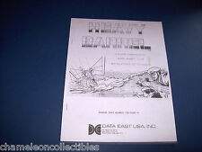HEAVY BARREL By DATA EAST 1988 ORIG VIDEO ARCADE GAME OPERATORS SERVICE MANUAL