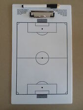 SOCCER double sided TACTICAL CLIPBOARD with MARKER PEN coach coaching aid - NEW