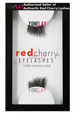 1 Pair GENUINE RED CHERRY Accent DS01 Charlie Human Hair Lashes False Eyelashes