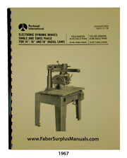 """Delta Electronic Dynamic Brakes For 14"""", 16"""", & 18"""" Radial Saws Manual #1967"""