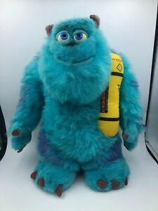 Hasbro 2001 Monsters Inc Glowing Bedtime Sulley Disney Plush Stuffed Toy Animal
