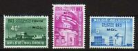A7645) BELGIUM 1961 Scott# 574/76 MNH** Atomic... MOL 3v