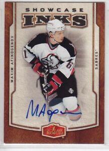 2006-07 FLAIR SHOWCASE MAXIM AFINOGENOV INKS AUTO I-MA Autograph Sabres