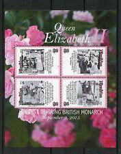 Niuafo'ou 2015 MNH Queen Elizabeth II Longest Reigning British Monarch 4v M/S