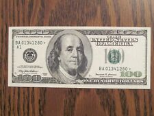 1999 FEDERAL RESERVE NOTE $100 DOLLAR STAR BILL