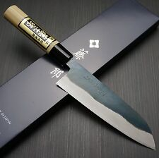 Tojiro Black Finish YASUKI SIROGAMI White Steel Santoku Kitchen Knife Japan F698