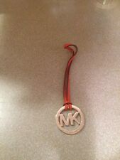 """New Michael Kors Signature Hang tag Fob Charm TANGERINE SILVER 2"""" wide 5"""" long"""