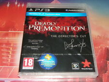 "jeu ps3 rare neuf ""deadly premonition"" the director's cut"