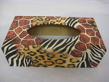 Animal Skin long Tissue Box Cover Handcrafted wooden