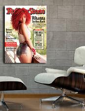 Poster Mural Rihanna R&B Musician 40x54 in (100x136cm) Adhesive Vinyl