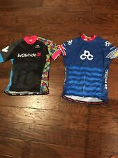 2 Cycling Bike Jersey Shirt JAKROO + Sugoi Size L Full Zip Great Condition