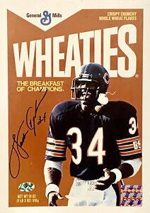 Walter Payton Chicago Bears Wheaties Signed 8x10 Photo Autographed Payton COA