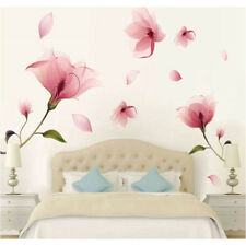 Wall Sticker Pink Flower Removable Decals For Home Mural Art Room Decor Vinyl 1X