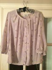 Ladies Boden Maeve Pattern Silk Blouse Size 14