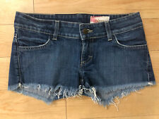 Siwy Camilla Slouchy Cut-Off Denim Blue Jeans Shorts. Low Rise. Size 25