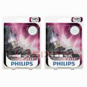2 pc Philips High Beam Headlight Bulbs for Chevrolet Astra Astro Avalanche ms