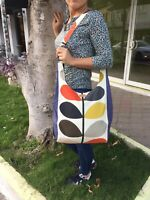 MULTI STEM Dark Blue ORLA KIELY FABRİC-CROSBAG SHOULDER BAG-SHOPPING BAGHANDMADE