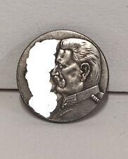 Piece Hitler 1933 1RM Reichsmark Coin Hindenburg Leukershausen ww2 German