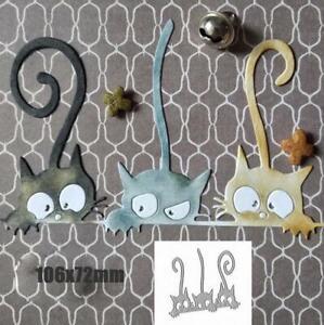 Cats Metal Cutting Dies Scrapbooking Metal Stencils Paper Card Craft Embossing
