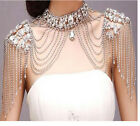 Luxury Crystal Bride Shoulder Chain Rhinestone Handmade Necklace Wedding Jewelry