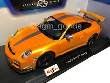 Maisto 1:18 Scale - Porsche GT3 RS - Orange - Diecast Model Car