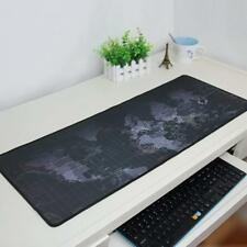 400x900x2mm Anti-Slip Rubber Gaming World Map Mouse Mat Keyboard Mats Black Size