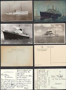 Belgium- Lot of 4 postcards - Theme: .Ships-Boats- Liners.......(DD) MV-9148