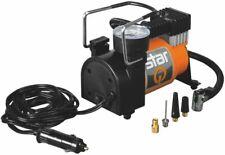 Mini Kompressor mit 4 Adaptern, Manometer Luftpumpe 10bar max. Betrieb über 12V