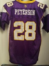 086af49ee90 Adrian Peterson MINNESOTA VIKINGS # 28 REEBOK AUTHENTIC Jersey youth large