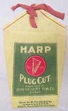 Vintage Harp Plug Cut Empty Bag Pouch John Weisert Tobacco Co. St Louis USA