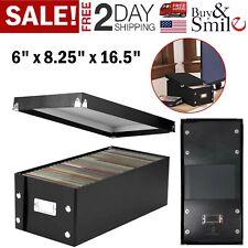 DVD Storage Box Rack Holder Disk Case Media Display Space Saver Organizer Black