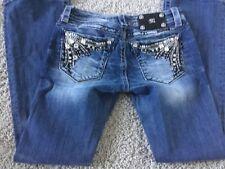 Women's Miss Me Denim Jeans Size 27 Inseam 30 Ultra-Low Boot Cut