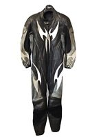 Hein Gericke Pro Sports one piece full leather motorcycle racing suit size 40 UK