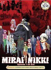 DVD Anime Mirai Nikki (The Future Diary) Complete Series (1-26) English Audio