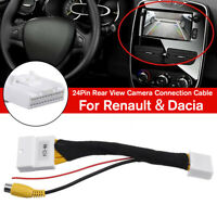 For Renault and Dacia Car Rear View Camera 24Pin Adapter Connection Cable 🔥