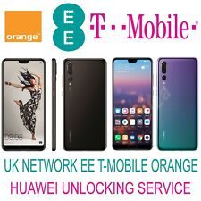 HUAWEI MATE 20 PRO MATE 20 LITE P20 PRO P SMART UNLOCK CODE UK EE TMOBILE ORANGE
