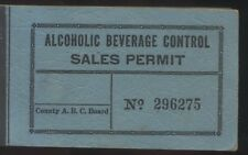 North Carolina RARE WWII-2 Alcohol Ration Stamp Book Unused 1945