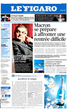 Le Figaro 9.8.2017 n°22705**MACRON affûte ses armes***Chute Teva**GET OUT**Mc Do