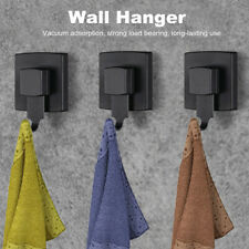 Black Vacuum Suction Sucker Shower Towel Hooks Holder Bathroom Wall Door