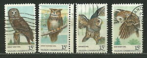 USA 1978 '' PRESERVATION OF NATURE... NIGHT OWLS '' SET USED (257)