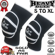 Austodex Boxing Martial Arts MMA Caps Knee Pads Brace Protector Volleyball Leg Black Large