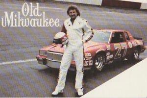 1984 Tim Richmond Old Milwaukee Pontiac Grand Prix NASCAR Winston Cup postcard
