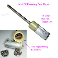 High Torque DC 12V 24V 108RPM Long Shaft Mini 180 Metal Gear Motor Planetary Box